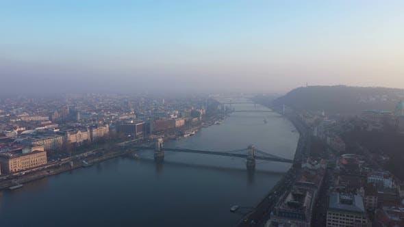 Aerial View Budapest City