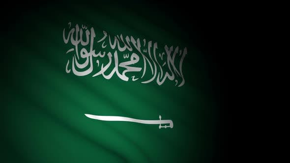 Thumbnail for Saudi Arabia Flag Blowing in Wind