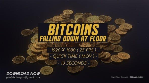 Thumbnail for Bitcoins Falling Down At Floor