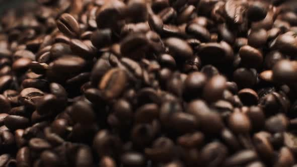 Thumbnail for Mixing Coffee Beans. Close-up.