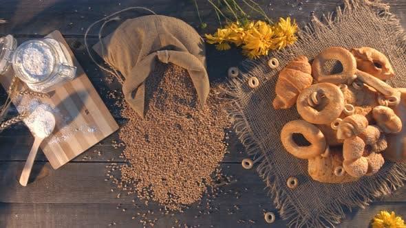 Süßes Backen aus Weizenmehl