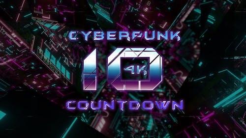 4k Cyberpunk Countdown