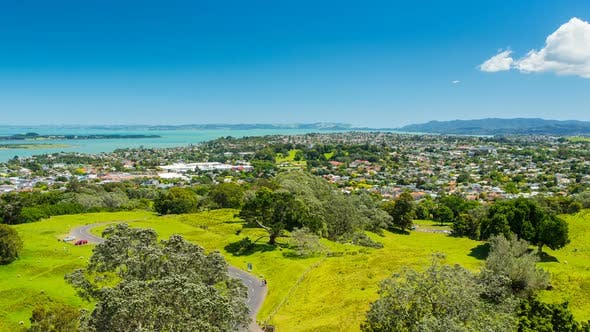 Cover Image for Auckland Cityscape from One Tree Hill Mountain