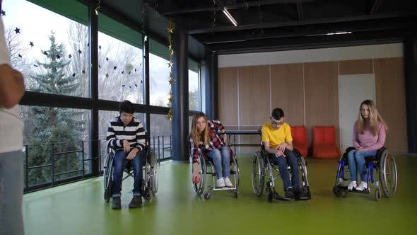 Thumbnail for Disabled Players Enjoying Bocce Game in Sport Hall