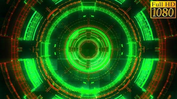 Cyberpunk Hud Geometric Background Vj Loops V2