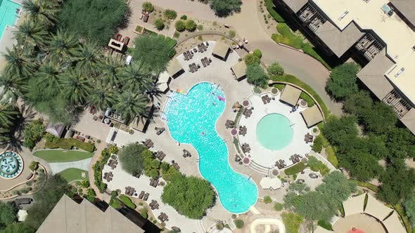 Descending On A Resort Pool From Above