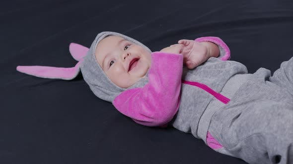 Thumbnail for Little Kid Easter Bunny Costume Top View