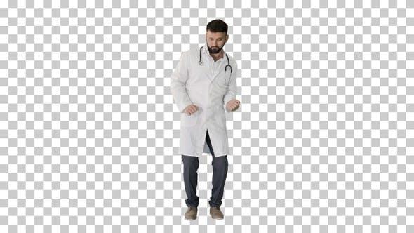 Thumbnail for Tanzender Arzt macht einige Bewegungen, Alpha-Kanal