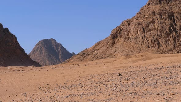 Thumbnail for Desert in Egypt. Panoramic View of the Desert with Mountains and Rocks in Egypt