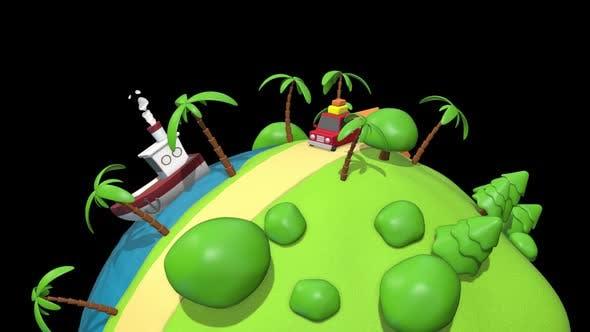 Cartoon Vacation Car 02