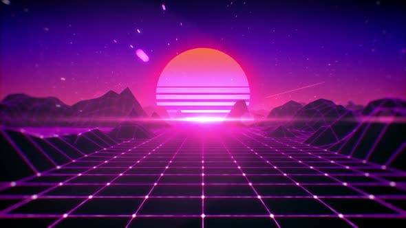 80's Retro Background