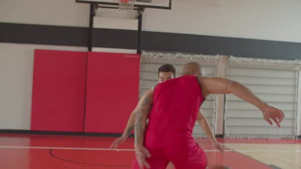 Thumbnail for Two African American Athletes Playing Basketball