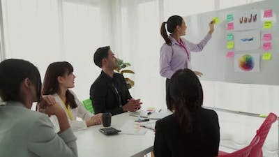 Business Project Presentation By Proficiently Skilled Businesswoman Team Leader