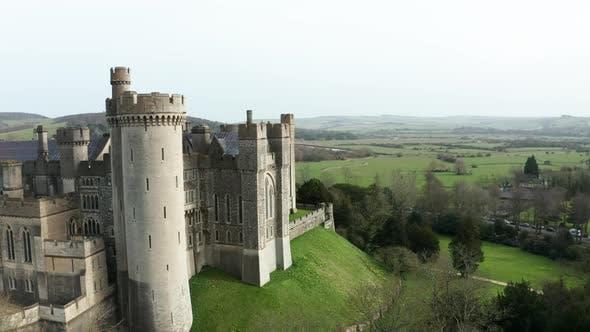 Medieval Castle Aerial Drone 4K