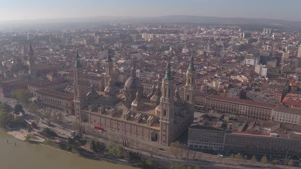 Thumbnail for Aerial view of the Basilica of Our Lady of the Pillar