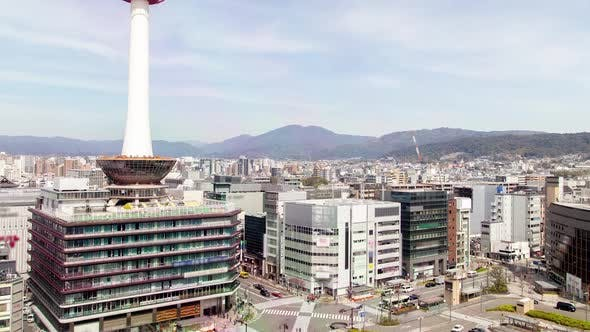 Kyoto Cityscape HIghrise Tower Japan Timelapse