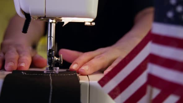 Thumbnail for Tailor Sewing And Showing USA Flag In The Side 29