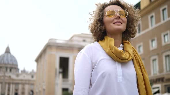 Thumbnail for People, Travel, Tourism Concept. Girl Enjoying Trip To Europe.