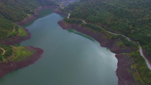 Thumbnail for Aerial Lake Mountains 4K
