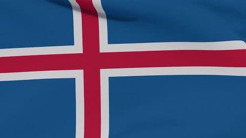 Flag Iceland Patriotism National Freedom Seamless Loop