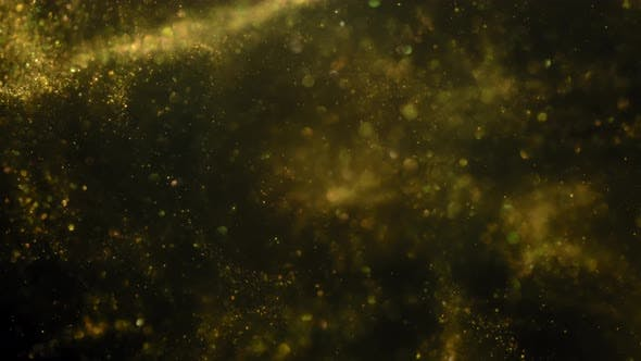 Thumbnail for Particles Gold Bokeh Glitter Awards Dust Abstract Background