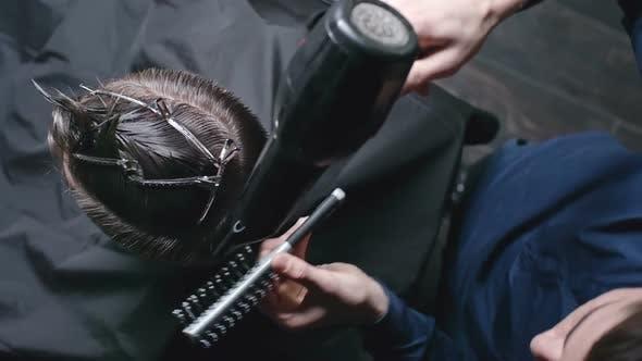 Thumbnail for Drying Hair at Barber