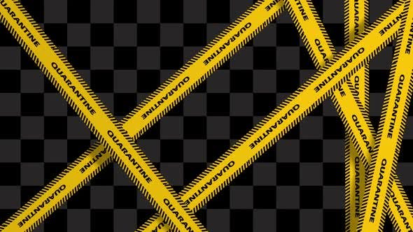 Thumbnail for Yellow Quarantine Warning Tapes
