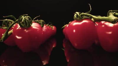 Red tomato close up