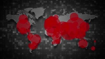 COVID19 Coronavirus Epidemic - World Population Map 01 - HD