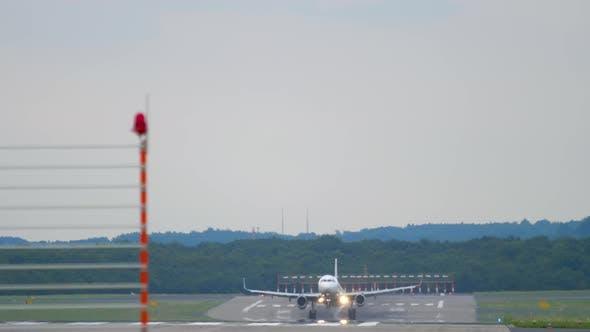 Thumbnail for Aircraft Landing at Evening