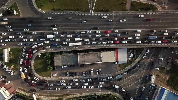 Thumbnail for Drones Eye View - Traffic Jam Top View, Transportation Concept 5555