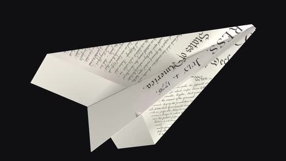 Paper Plane - US Declaration - Side Angle - II - Transparent Loop