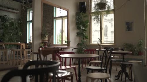The Interior of A Coffee Shop