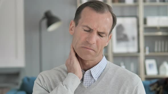 Thumbnail for Tired Middle Aged Man Trying to Relax Neck Pain