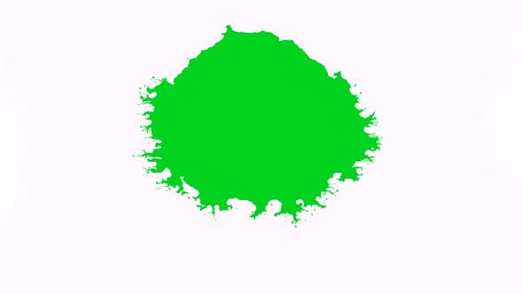 Green Ink Dropped Into White Background
