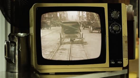 Thumbnail for A Trip Down Market Street on a Retro TV.
