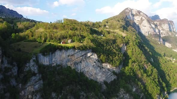 Thumbnail for Aerial video of the Swiss Alps and Walensee Lake in Switzerland during Summer (1)