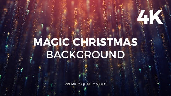 Thumbnail for Magic Christmas Background 4K