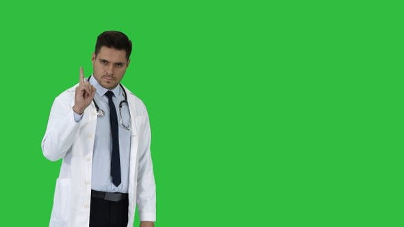 Thumbnail for Doctor man medical professional making a point gesture