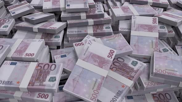 Thumbnail for 500 Euro Banknote Bundles Scattered