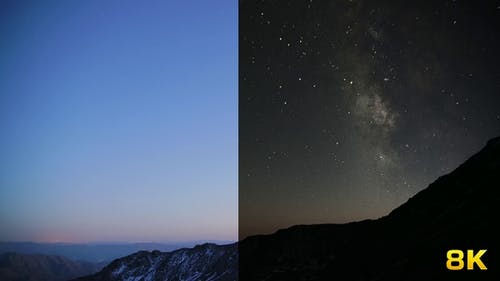 Day to Night Transition at Mountains