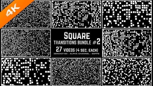 Thumbnail for Square Transitions Bundle 2 - 4K
