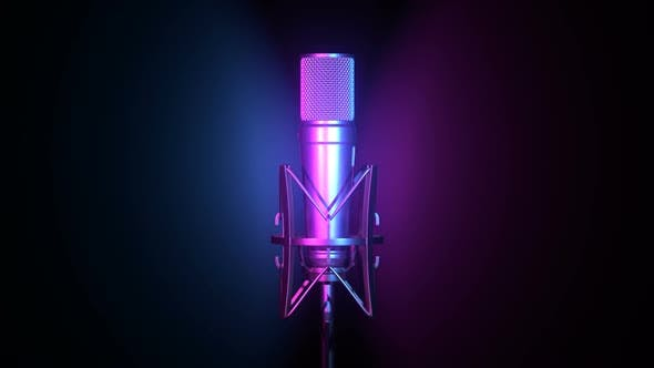 Thumbnail for Professional Microphone Against Cyan and Magenta Background