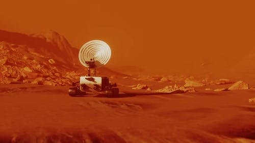 Rover Exploring Mars Red Planet Surface Sent By NASA