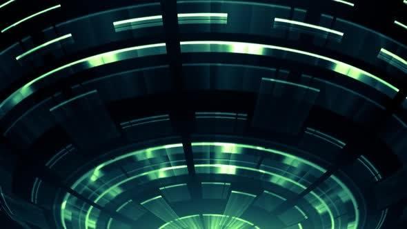 Thumbnail for Elegant Tech Circles Green V02