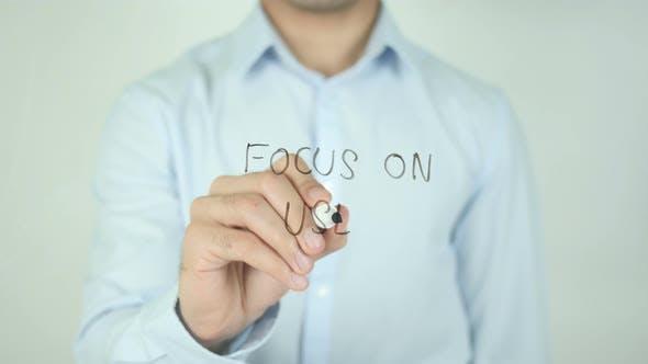 Focus on User, Writing On Screen