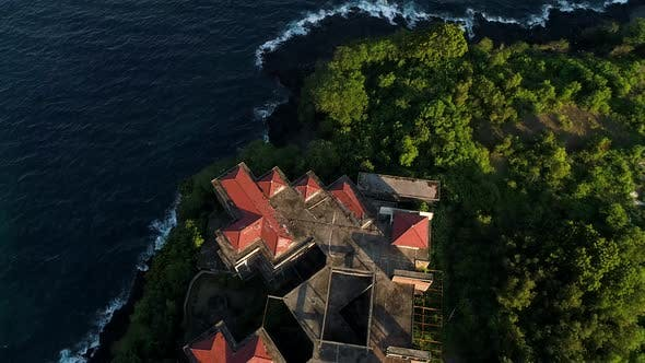 Thumbnail for Abandoned Hotel on the Mountain Looks into the Open Sea