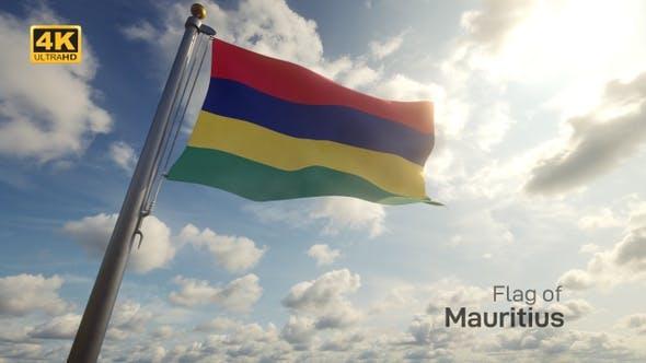 Thumbnail for Mauritius Flag on a Flagpole - 4K