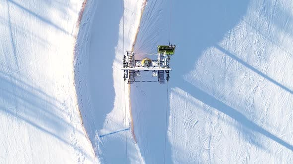Thumbnail for Alpine Ski Slope And Chairlift In Action