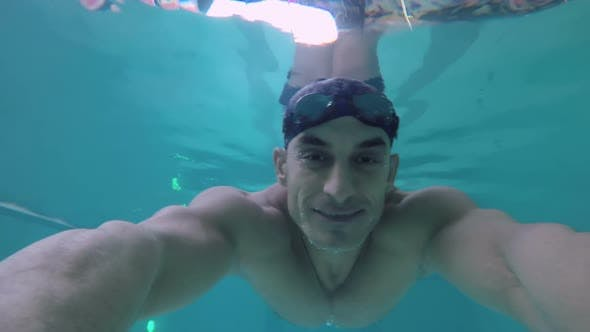 Thumbnail for Man Smiling for Camera Underwater